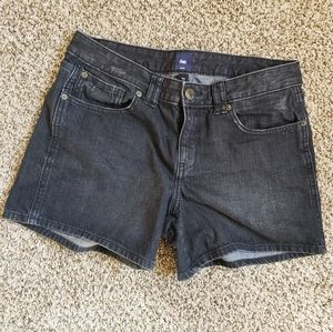 GAP Jeans Shorts Faded Black Size 12